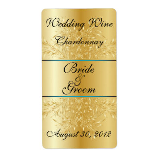 Leaves Gold Shipping Labels | Zazzle