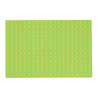 Gold on Green Abstract Pattern Placemat