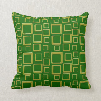 Gold on Green Feeling Sixties Pillow