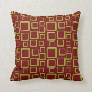 Gold on Maroon Feeling Sixties Pillow