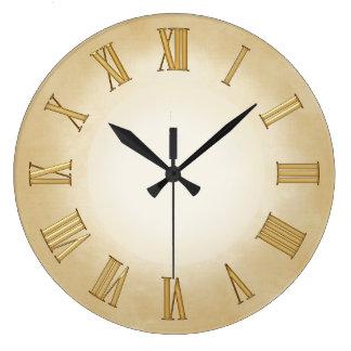 Gold on Parchment-effect Modern Art Clock