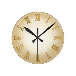 Gold on Parchment effect Modern Art Clock