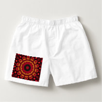 Gold On Red Mandala Boxers