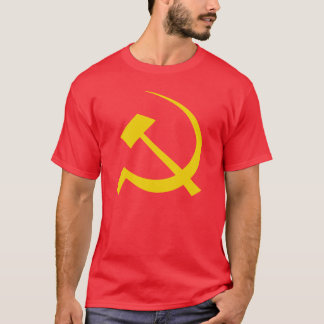 Gold on Red Soviet Hammer and Sickle T-Shirt