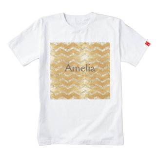 gold,on rustic gold,chevron,zig zag,grunge,trendy, zazzle HEART T-Shirt