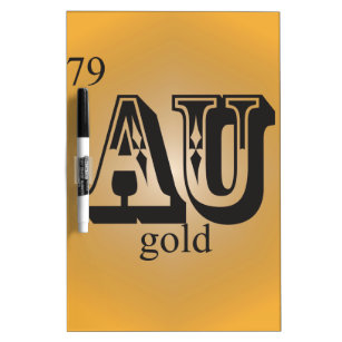 Gold au element office products supplies zazzle gold on the periodic table dry erase board urtaz Gallery