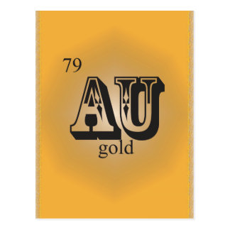 Gold on the Periodic Table Postcard