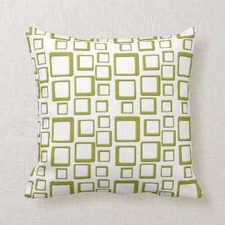 Gold on White Feeling Sixties Pillow
