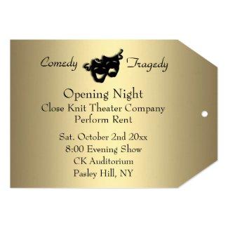 Gold Opening Night Invitation