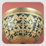 Gold openwork for a varnished bowl square stickers