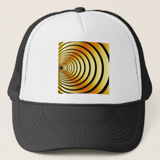 Gold optical illusion trucker hat