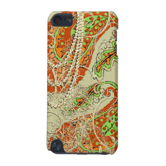 Gold Orange and Lime Swirl iTouch Case