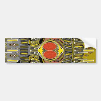 Gold orange superfly design car bumper sticker