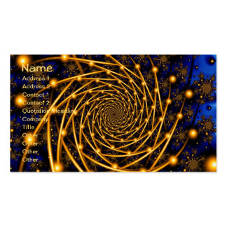 Gold Orbit Fractal Art Double-Sided Standard Business Cards (Pack Of 100)