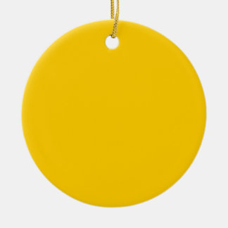 Gold Double-Sided Ceramic Round Christmas Ornament