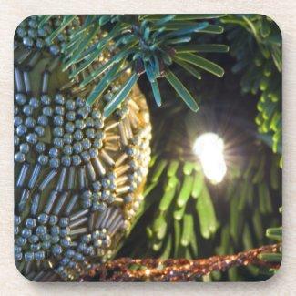 Gold Ornament Beverage Coasters