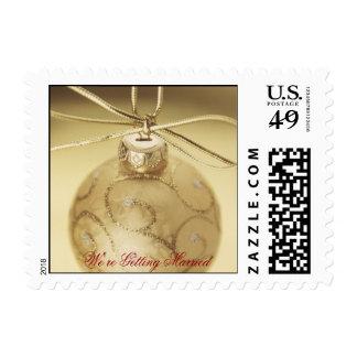 Gold Ornament Wedding Stamp