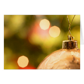 Gold Ornament With Lights Cards