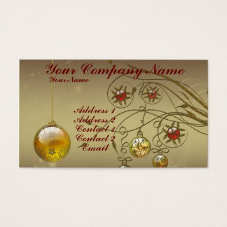 Gold Ornaments Business Card