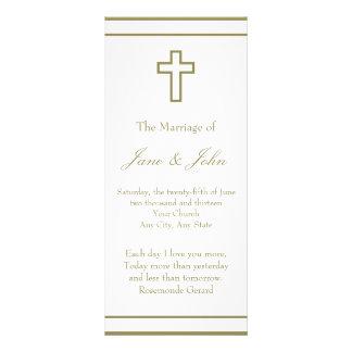 gallery for gt wedding cross for program