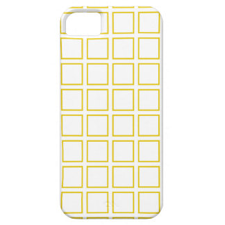 Gold Outlined Squares iPhone SE/5/5s Case