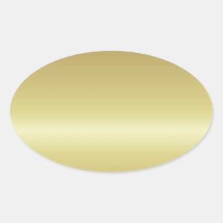 gold oval sticker