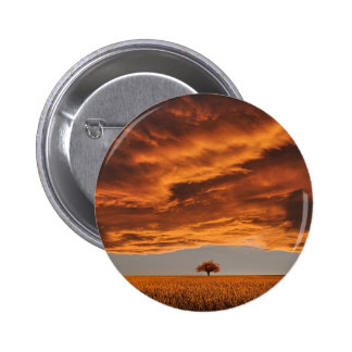 Gold over the sad tree cloud 2 inch round button
