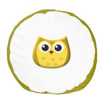 Gold Owl Pouf Pillow