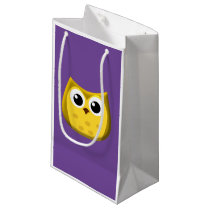 Gold Owl Small Gift Bag
