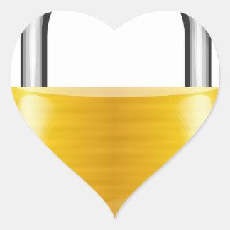 Gold Padlock Heart Sticker