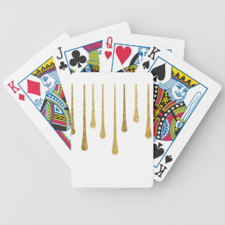 Gold Paint Drips Playing Cards