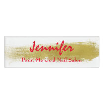 Gold Paint Employee Name Tag