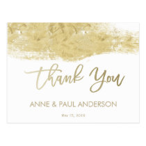 Gold paint swatch Thank You Card