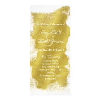 Gold paint wedding program