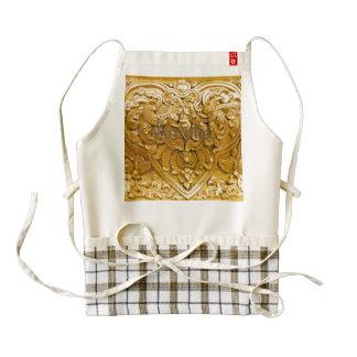 Gold painted,antique wood work,vintage,elegant, zazzle HEART apron