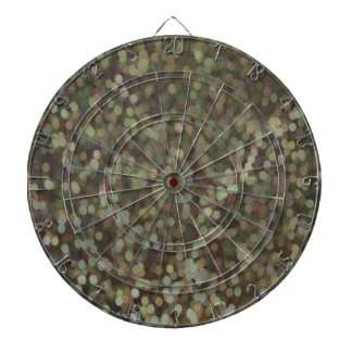 Gold Painted Glitter Shimmer Dart Board