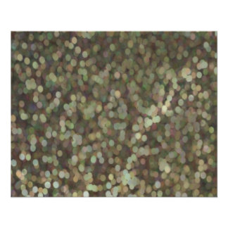 "Gold Painted Glitter Shimmer 4.5"" X 5.6"" Flyer"