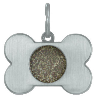 Gold Painted Glitter Shimmer Pet ID Tag