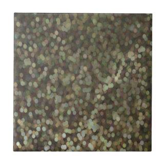 Gold Painted Glitter Shimmer Tile