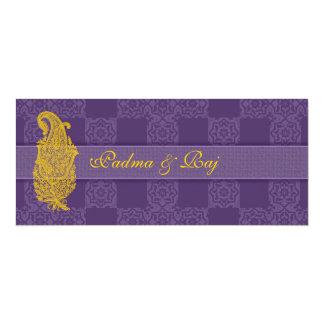 Gold Paisley and Purple Wedding Invitations