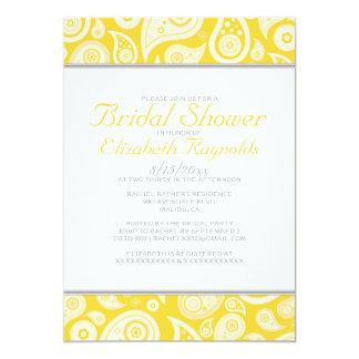 Gold Paisley Bridal Shower Invitations