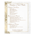 "Gold paisley Lace White Background 4.5"" X 5.6"" Flyer"