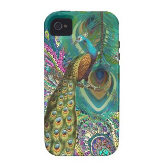 Gold Paisley Peacock & Feather You Choose Color