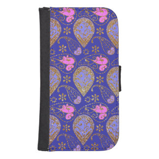 Gold Paisley Samsung S4 Wallet Case
