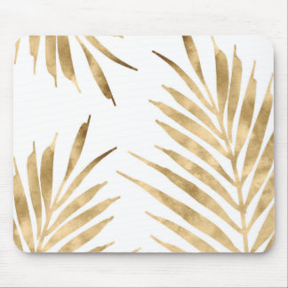Gold Palm Fronds Mouse Pad