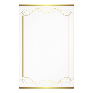 Gold Panel Stationery