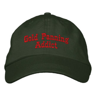 Gold Panning Addict Prospecting Embroidered Hat