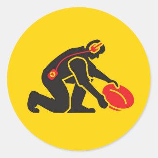 Gold Panning Classic Round Sticker