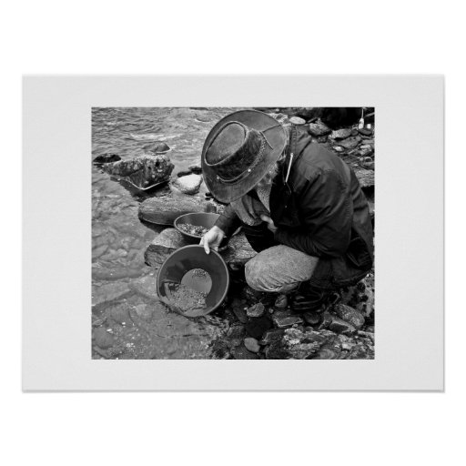 Gold Panning Poster