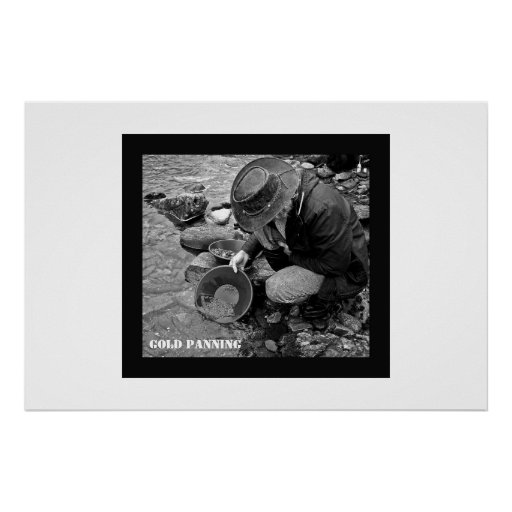 Gold Panning poster with text